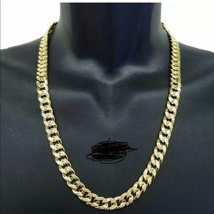 Men necklace  link men chain rock